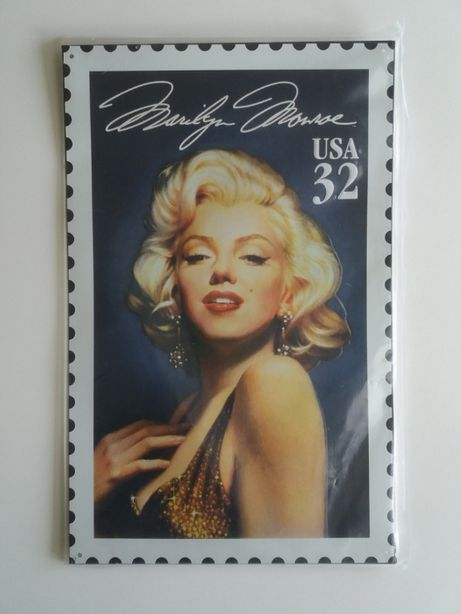 Marilyn Monroe blaszana tabliczka ozdobna