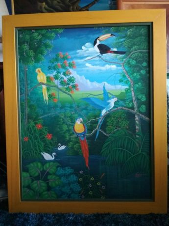 Quadros exóticos pintados a óleo