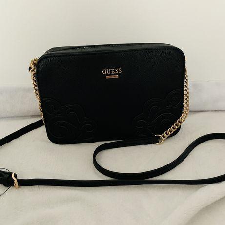 Nowa torebka Guess Devyn czarna listonoszka śliczna