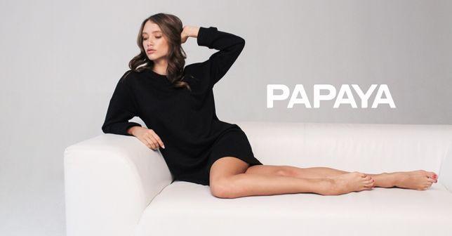 Трикотажное чёрное платье Papaya, новое, размер 44