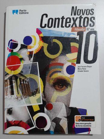 """Manual """"Novos Contextos"""" Filosofia 10º ano (com Caderno do Aluno)"""