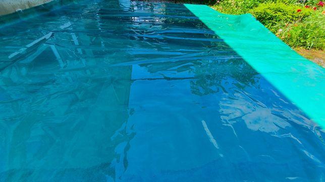 Плотный тент с люверсами 5х4 метров. Для бассейна, палатки, лодки