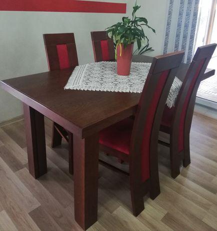 Masywny stół rozkładany 160x90