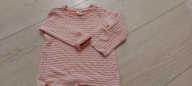 Komplet H&M organic cotton dla dziewczynki r.86