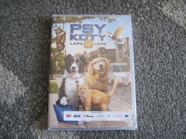 Psy i koty 3: Łapa w łapę! (DVD, NOWE))