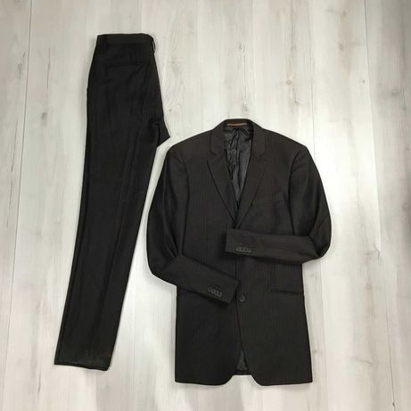 M Костюм в полоску приталенный пиджак/классические брюки TopMan