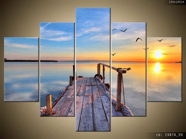 Drewniany pomost, Obraz na płótnie, Canvas, dobra cena, wiele wzorów