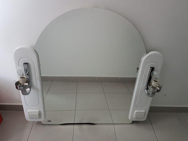 Espelho NOVO Branco com Luz para Casa de Banho