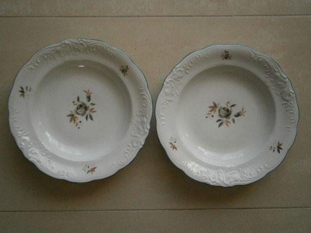 Talerz do zupy talerze głębokie 2 szt Wałbrzych porcelana