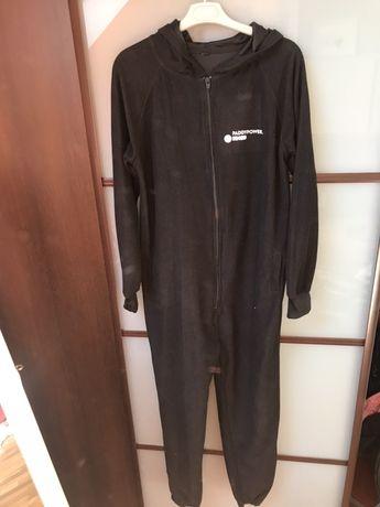 Pajacyk piżama 38 czarny kombinezon