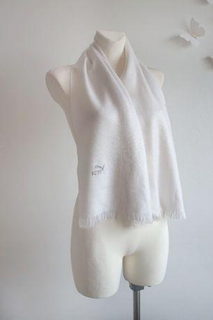 Biały szalik Puma unisex klasyczny