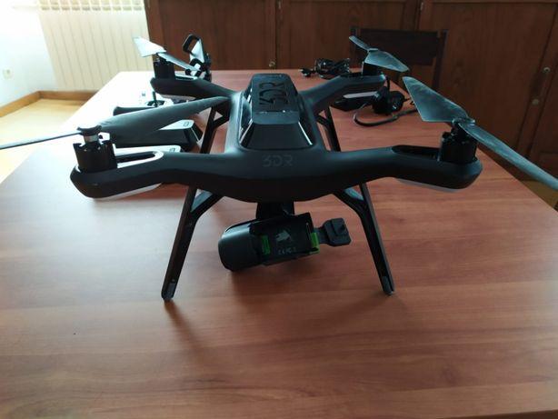 Solo Drone 3DR completo com gimbal, baterias extra e mala