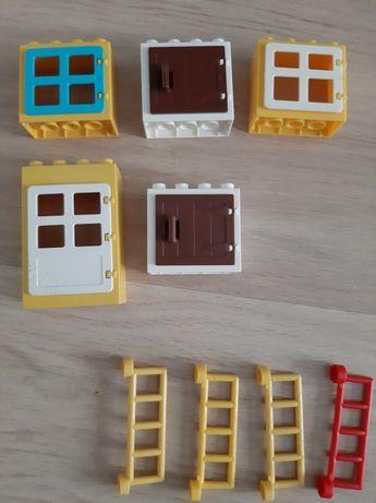 Lego Duplo okna drzwi płoty 9 szt