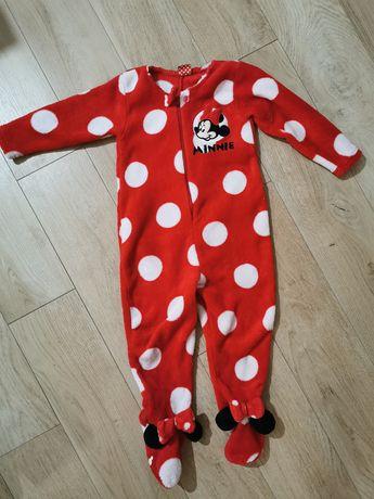 Pajac pajacyk piżama polar Myszka Miki Minnie