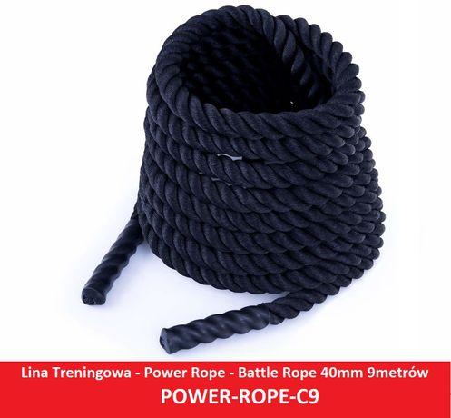 Lina Treningowa - Power Rope - Battle Rope 40mm / 9m POWER-ROPE-C9