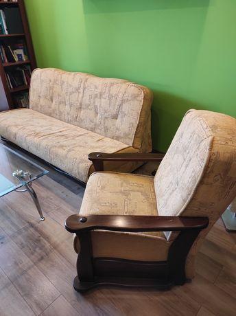 Wersalka fotele super stan mało używane zestaw