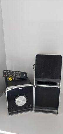 Niemiecka Mini Wieża Bluetooth AEG MC 4459 BT + 2 Kolumny + Pilot