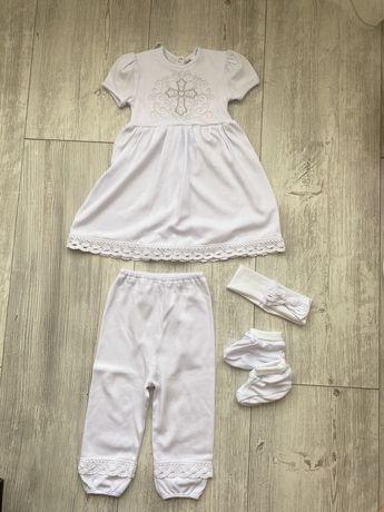 Набор крестильной одежды на девочку