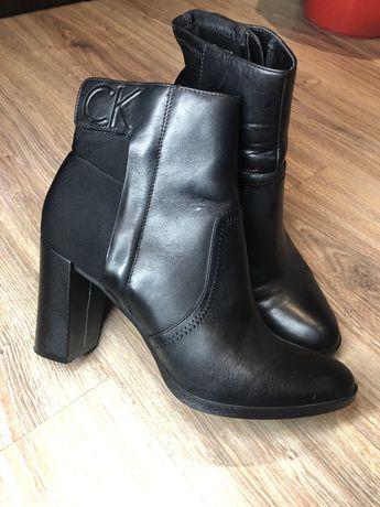 Женские кожанные ботинки(ботильйоны) CALVIN KLEIN