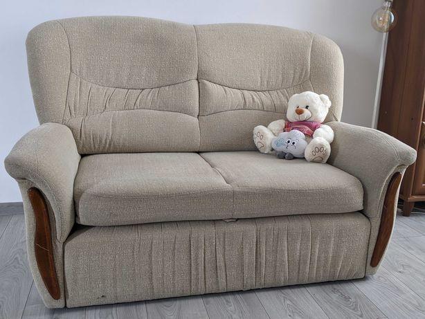 kanapa rozkładana z fotelem