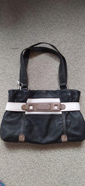 Фирменная итальянская сумка Tignanello из натуральной кожи