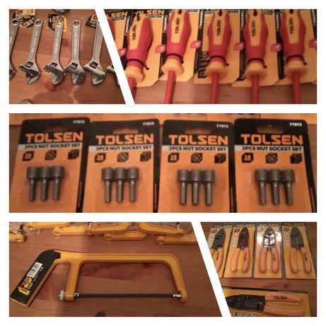 Várias ferramentas de marca tolsen