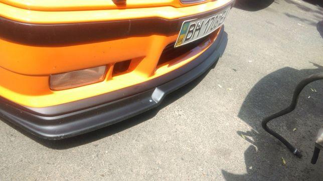 GT губа для переднего М бампера а-ля RIEGER для БМВ Е36 стекловолокно