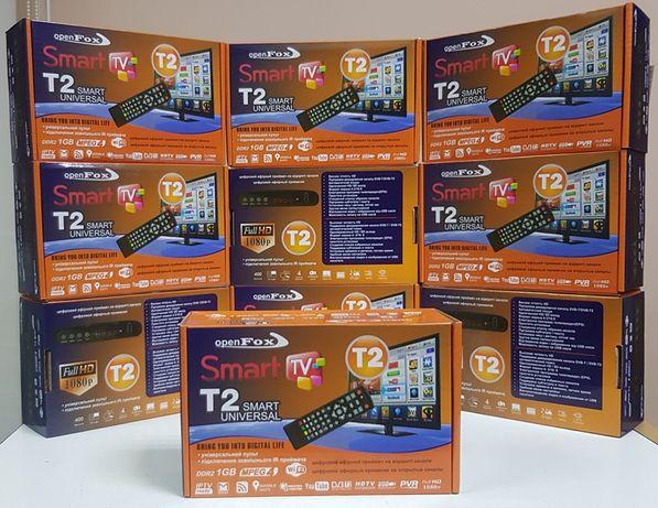Приставка Т2 ресивер приемник тюнер DVB-T2 OpenFox T2 Mini Smart YouTu