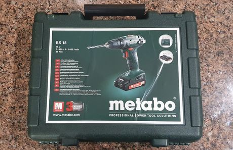 Аккумуляторний шуруповерт Metabo BS 18
