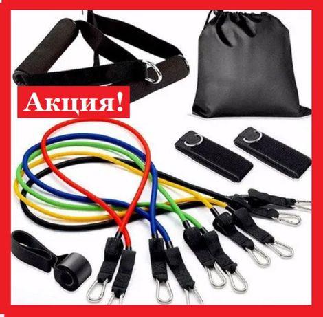 Эспандеры Бубновского ( всего 5 жгутов) + сумка. 10 вещей в комплекте