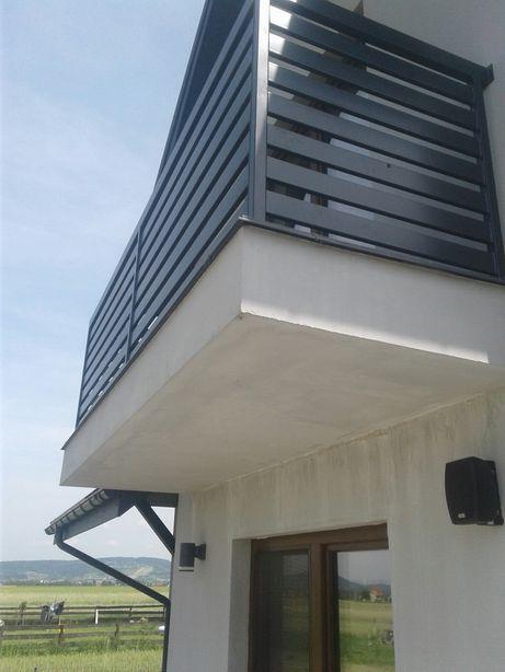Balustrada balkonowa, stalowa, metalowa
