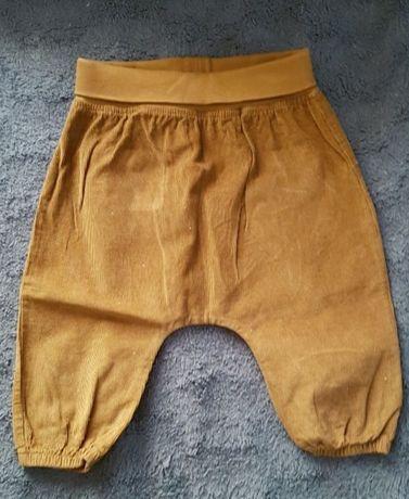 Spodnie sztruksowe h&m 68