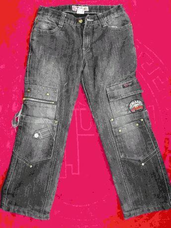 брюки джинсовые на флисе