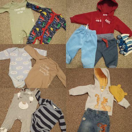 Пакет одежды для мальчика ,боди, человечек,кофта next,hsm,3 м,62 см