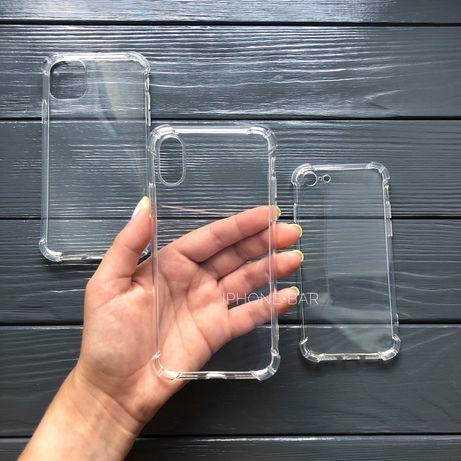 Чехол силиконовый на IPhone 6/7/8/X/Xr/max/11 pro айфон противоударный