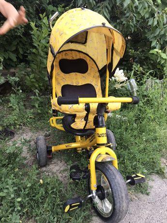Велосипед дитячий з батьківською ручкою