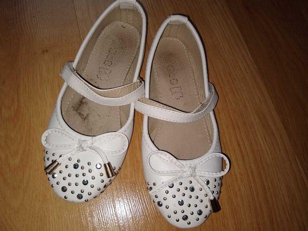 Białe buciki baleriny dla dziewczynki rozm. 29