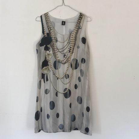 Vestido de cerimonia em seda da marca italiana  1-one - Usado uma vez