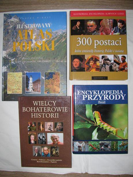 Encyklopedia, atlas-4 szt.