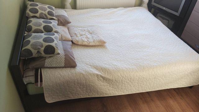 Meble do sypialni BRW komplet; łóżko, szafa, komoda