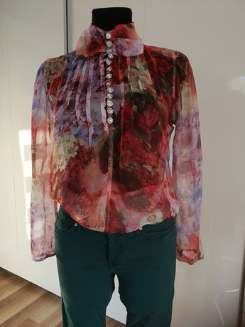 Bluzka Zara w kwiaty S/M