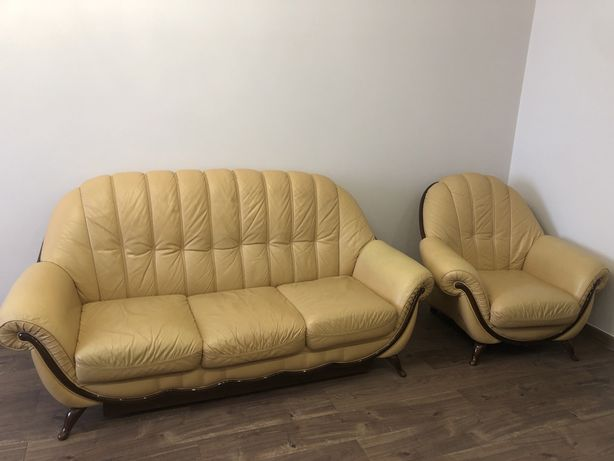 Шкіряний диван 3+1