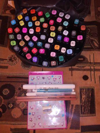 Маркеры для скетчей Touchnew TouchFIVE 60 цветов палитра Анимация