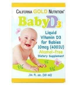 Витамин д baby d3 california gold