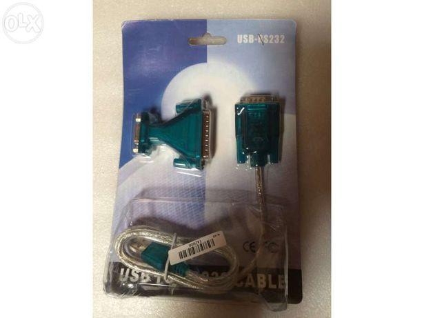 Adaptador usb serial rs 232 db9 e db25 2 em 1