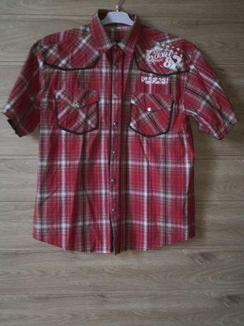 Koszula czerwona w kratę TKF dla chłopca