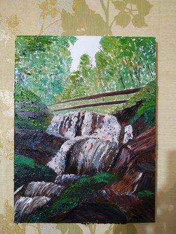 """Картина """" Карпаты. Водопад Шипот"""""""