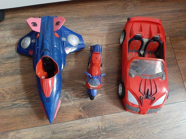 Auta Spiderman plus czarny spiderman