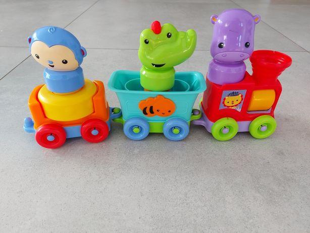 Fisher Price pociąg ze zwierzętami lokomotywa