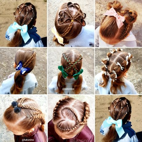 Детские прически, плетение кос, афрокосички, причёски